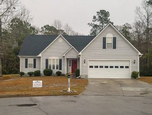 image shows new roof installed by Patriots' Roofing in Raleigh, Jacksonville and Outer Banks North Carolina