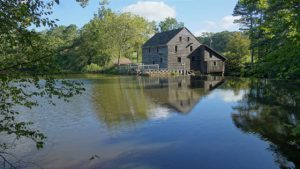 Historic Yates Mill, a former mill that is now a city park in Ra